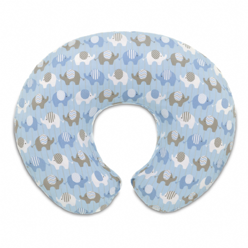 Boppy Slipcover - Elephants Blue